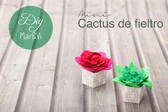 Manualidades con fieltro: mini cactus
