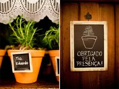 Mini Chalkboard Signs Rustic Wedding Favors SET of by braggingbags, $110.00