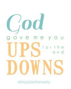 God Gave Me You - Blake Shelton - Country Music Lyrics - 8x10 Typography by DirtRoadAnthems, $10.00