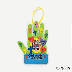"""God Made Me Special"" Handprint Photo Frame Craft Kit"