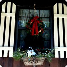 My wreaths & window boxes for Christmas:)