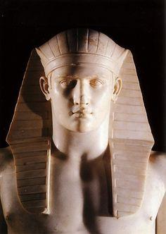 Antinous as the Egyptian God Osiris 131-128 AD Roman Marble discovered 1738-39 in Hadrian's Villa