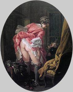 """La Jupe relevée"" by François Boucher, 1760s. Is she having a wash? I don't know."