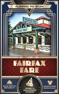 Walt Disney World Planning Pins: Fairfax Fare