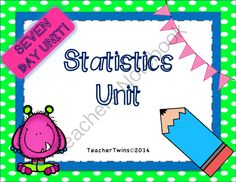 Statistics Unit Common Core 7 SP.1, SP.2, SP.3, SP.4 from Teacher Twins on TeachersNotebook.com -  (102 pages)  - This is a 7 day unit on Statistics. Each day has a power point that includes a warm-up with answers, notes and a closure of the lesson.  Guided notes or flippables are provided for each lesson as well