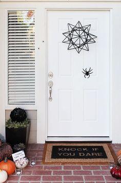 Halloween spider web door wreath