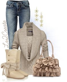 """""""Sheepskin Boots"""" by lv2create ❤ liked on Polyvore"""