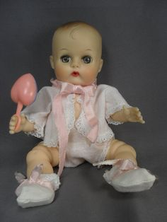 Vogue Ginnette Baby Doll in Pink Sacque - from the 1950's - Ginny's Baby Sister