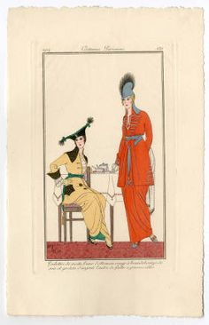 Women 1900-1914, Plate 189. Fashion plates, 1790-1929. The Costume Institute Fashion Plates. The Metropolitan Museum of Art, New York. Gift of Woodman Thompson (b17509853) | This fashion plate is dated 1914. #fashion