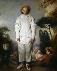 ANTOINE WATTEAU, 1684 - 1721: Gilles. Oil on canvas, 184'5 x 149'5.