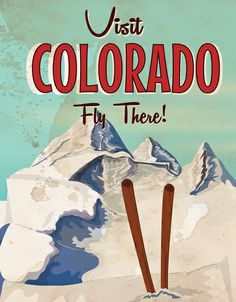 Colorado vintage Travel poster Art Print