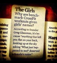 Crossfit Girls- this is great! =>  I believe Crossfit girls are some of the sexiest!! GOAL!