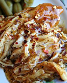 Slow Cooker Brown Sugar & Garlic Chicken...Oh, so delicious!