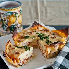 Mini chicken Lasagnas - Made with wonton wrappers