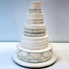 Order a cake from your local bakery, then use the customizing tools available at Verydifferentcakes.com to design dazzling cake jewelry for it. - http://merrybrides.blogspot.co.uk/2010/11/5-ideas-for-creative-and-unusual.html#