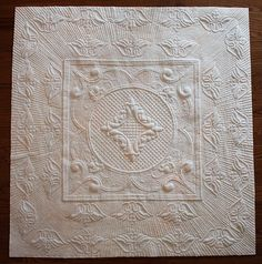 ManQuilter's WholeCloth Trapunto Quilt