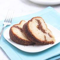 Amaretto Cake with Cinnamon Swirl