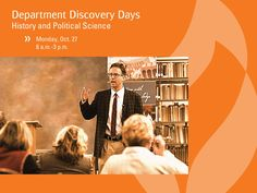 Interested in history and political science? Visit campus during their department discovery day on Monday, October 27. http://anderso.nu/history-poli-sci