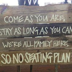 Seating plan?