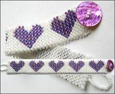 Layered Hearts Bracelet Pattern