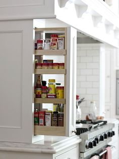 spice rack storage for a kitchen BHG