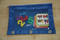 use pencil pouches from the Dollar Tree to store station materials -- put pouches in a 3 in binder for storage - group similar activities together
