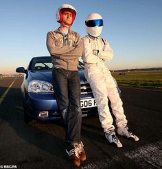 The Doctor and The Stig.  Personally, I am a Stig fan.