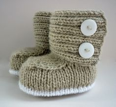 Baby boots knitting pattern