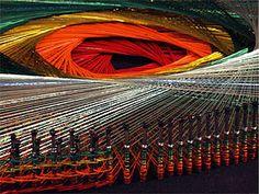 El arte de hilos tensados de hilo, el art, hilo tensado, string art, art de