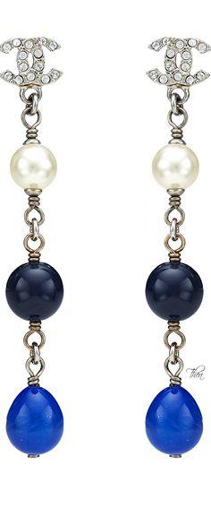 Chanel ● Rhinestone CC Pearl Gripoix Drop Earrings