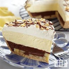 Peanut Butter and Chocolate Banana Cream #Pie from Jif®