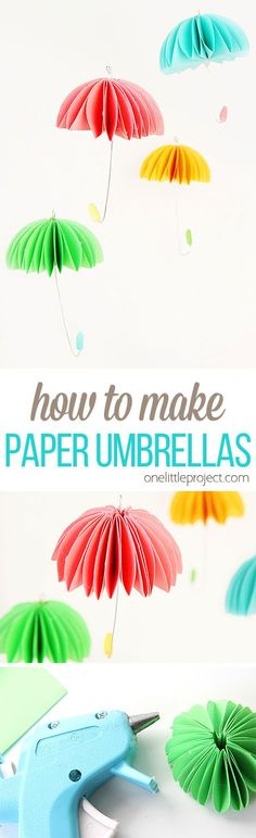 These paper umbrella