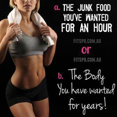 Is the junk food worth it? Think about your bogy-shape goals, but also consider your energy & long-term health goals. #fitness#health