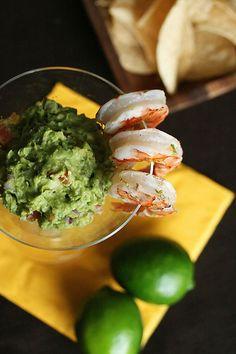 Viva Avocado! - Margarita Shrimp with Grilled Avocado Guacamole - Crumb: A Food Blog
