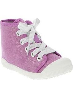 Glittery High-Top Sneakers for Baby | Old Navy $15.00 - Doc Mcstuffins costume