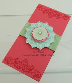Teri's Craft Spot - UK Stampin' Up! Demonstrator can use daydream medallions instead of Happy Days
