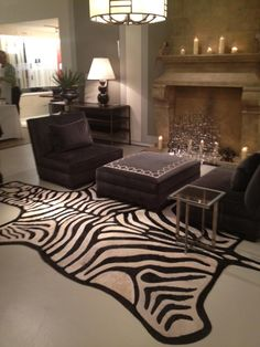 Living room ideas on pinterest 42 pins for Living room ideas with zebra rug