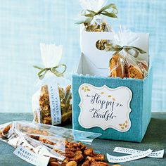 food gifts, biscotti, chocolates, sweet sendoff, gift ideas, drink, pecan pies, gift tags, snack