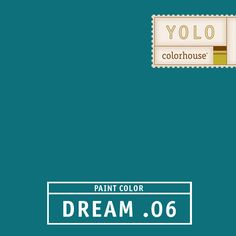 YOLO Colorhouse DREAM .06:  Peacock feathers.  Dreamy and sultry, like vintage velvet.  Use in a dining room or as an accent behind shelves. $35.95