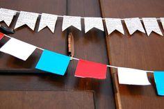 Patriotic duct tape banner!