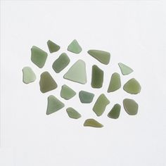 Olive Green Sea Glass Mixed Green Seaglas Frosted Surf by JanJat, $14.00