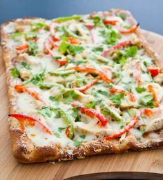 BBQ Chicken Pizza by EclecticRecipes.com #recipe