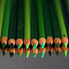 We'd like one of every shade of these green pencils somewhere in our house