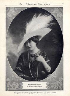 Chanel 1911 Feathers Hat Melle Gabrielle Dorziat