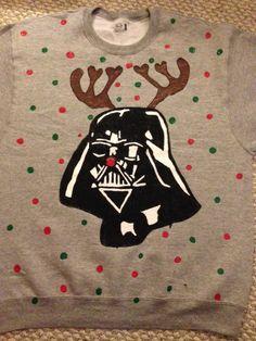 Star Wars Darth Vader Christmas Reindeer Sweatshirt. haha i want this.!