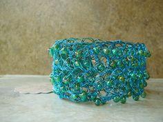 Crochet cuff - beautiful accent piece