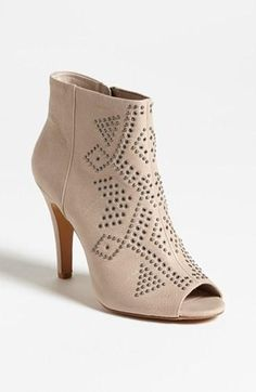 Vince Camuto ~ studded cream bootie.
