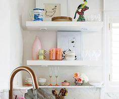 Kitchen shelving. Via SA Decor & Design Blog