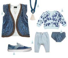 Blue Denim for me & baby by Chloé Fleury