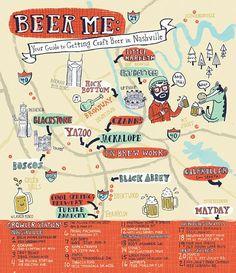 Lauren Minco - Map of Craft Beers in Nashville